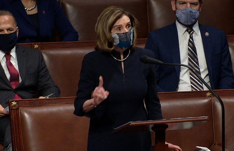 民主黨籍眾議院議長波洛西(Nancy Pelosi)。  歐新社