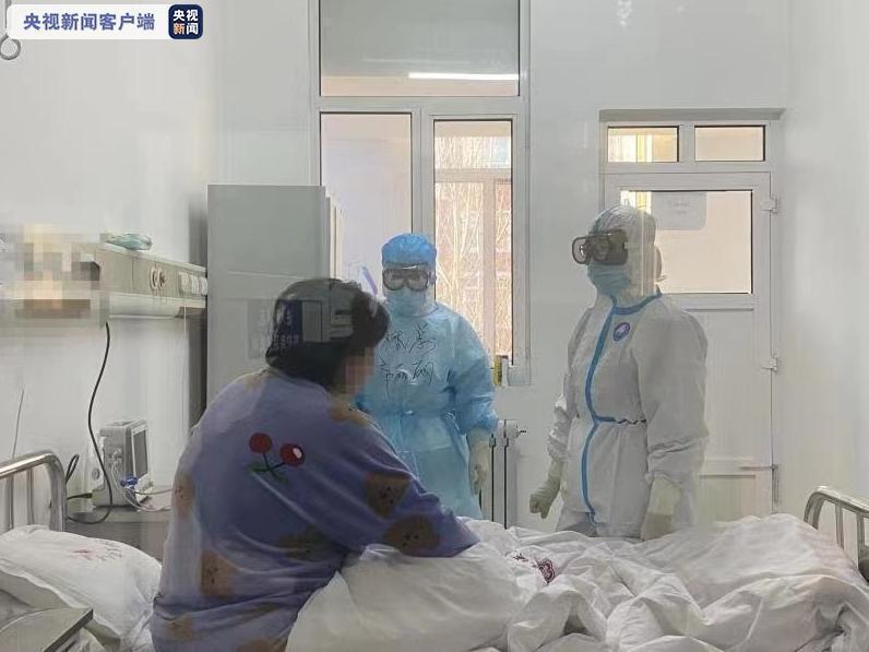 內蒙古一醫院環境病毒檢測呈現陽性。(圖/取自央視新聞)
