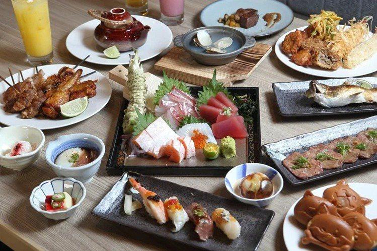 主打日式料理吃到飽的「旭集」,今年將插旗高雄、新莊、竹北。記者陳睿中/攝影