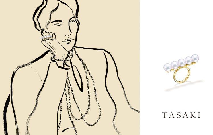 Rosie McGuiness插畫呈現TASAKI COLLETCTION系列。...