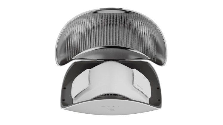 LG PuriCare口罩型空氣清淨機UV消毒充電盒,建議售價4,390元,1月...