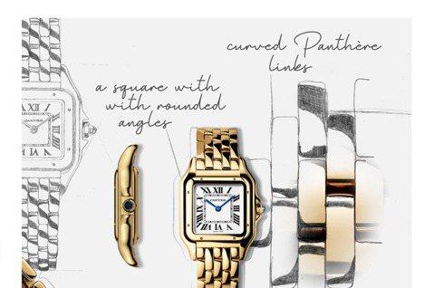 Panthère美洲豹腕錶名字來自靈巧服貼的腕錶錶鍊,柔潤的鍊節經縝密構思設計。...