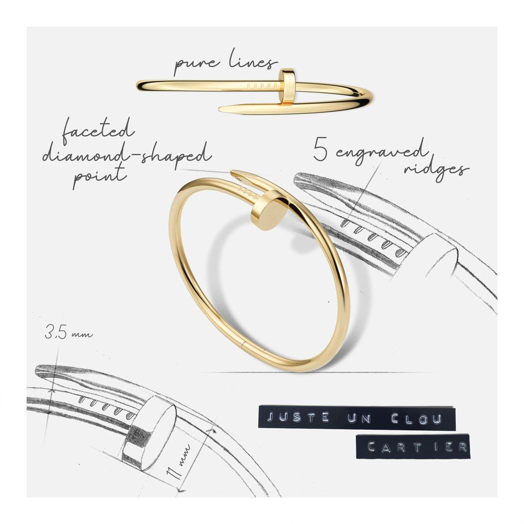 將五金零件昇華為珠寶的Juste un Clou釘子手環,從釘子延伸出比例和諧的...