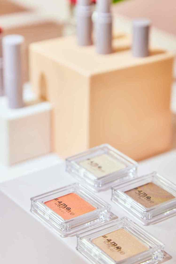 GU在去年底搶先於日本上市的#4me系列彩妝,也即將在台灣推出了。圖/GU提供