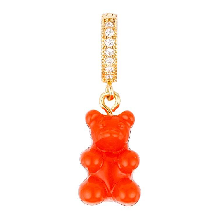 橘色懷舊小熊鋯石款,2,080元。圖 /ARTIFACTS提供