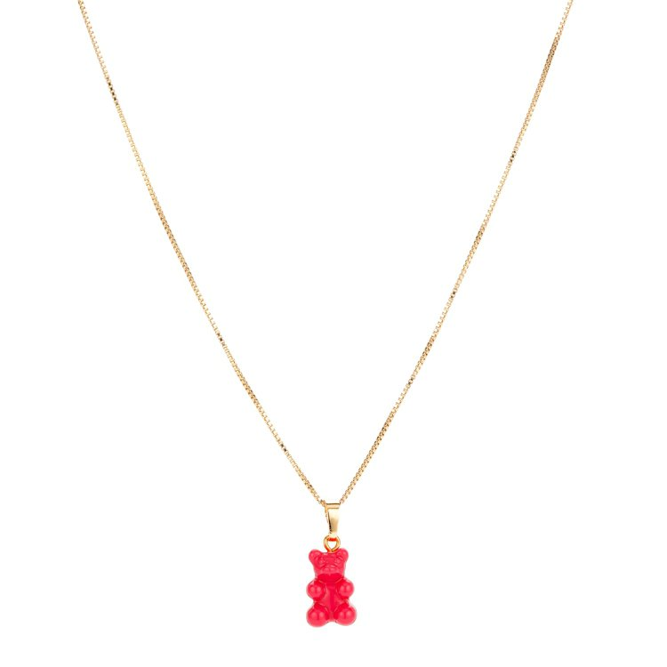 粉色懷舊小熊鍊墜,1,680元。圖 /ARTIFACTS提供