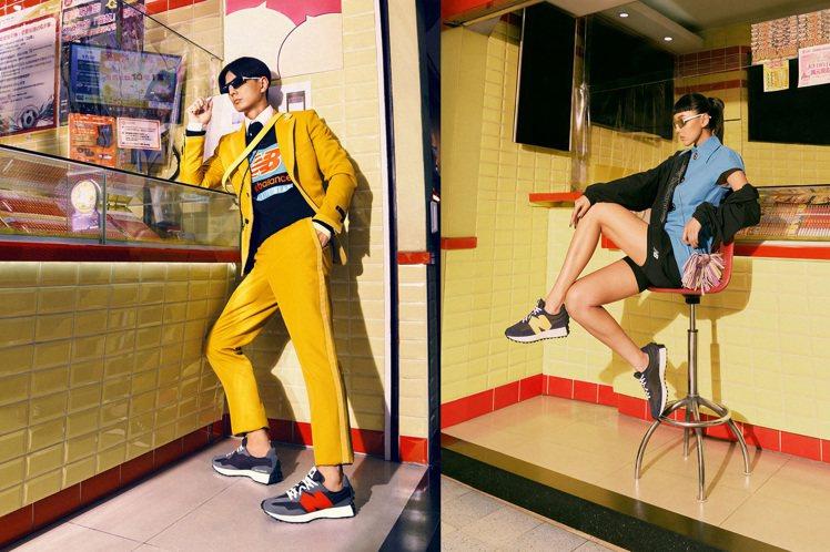 New Balance邀請Kiwi李函(右)、Jun邱文駿一同詮釋新年生活的各種...