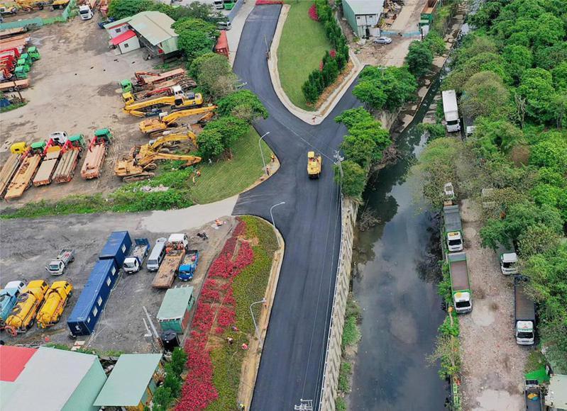 五股垃圾山整頓已有階段性成果。圖/新北城鄉局提供