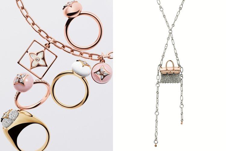 路易威登與愛馬仕情人節推薦珠寶,深具辨識度的經典元素是送禮首選。圖/路易威登、愛...