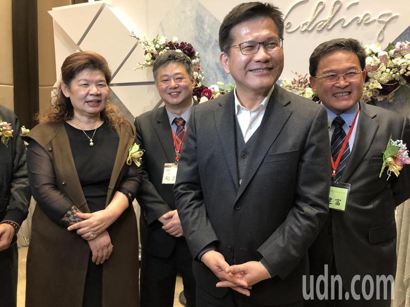 交通部長林佳龍今天到彰化為工商界人士演講。記者林敬家/攝影