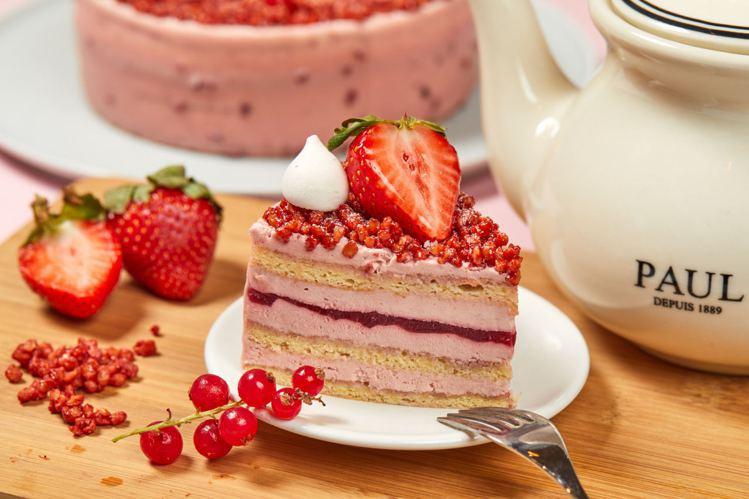 紅寶石天堂草莓蛋糕。圖/PAUL提供