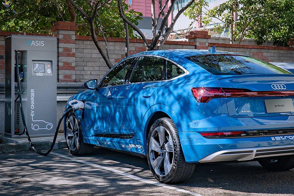 台灣奧迪(Audi Taiwan)以消費者使用情況「家用充電」、「目的地充電」與...