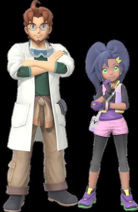 阿鏡博士(左)以及莉塔(右)。