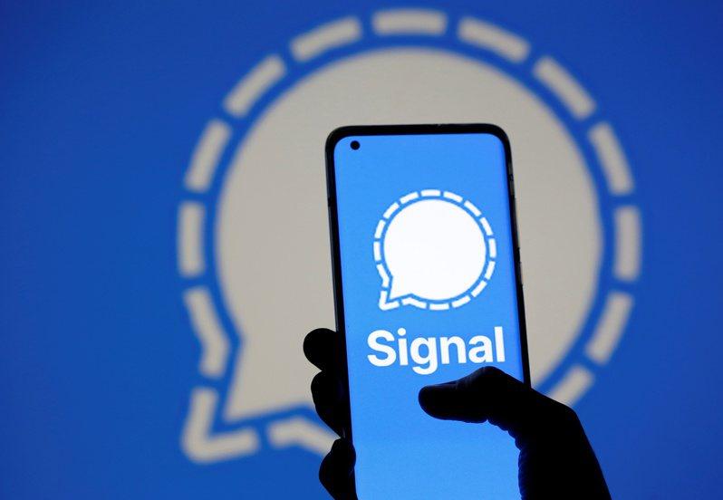 通訊軟體Signal。 路透