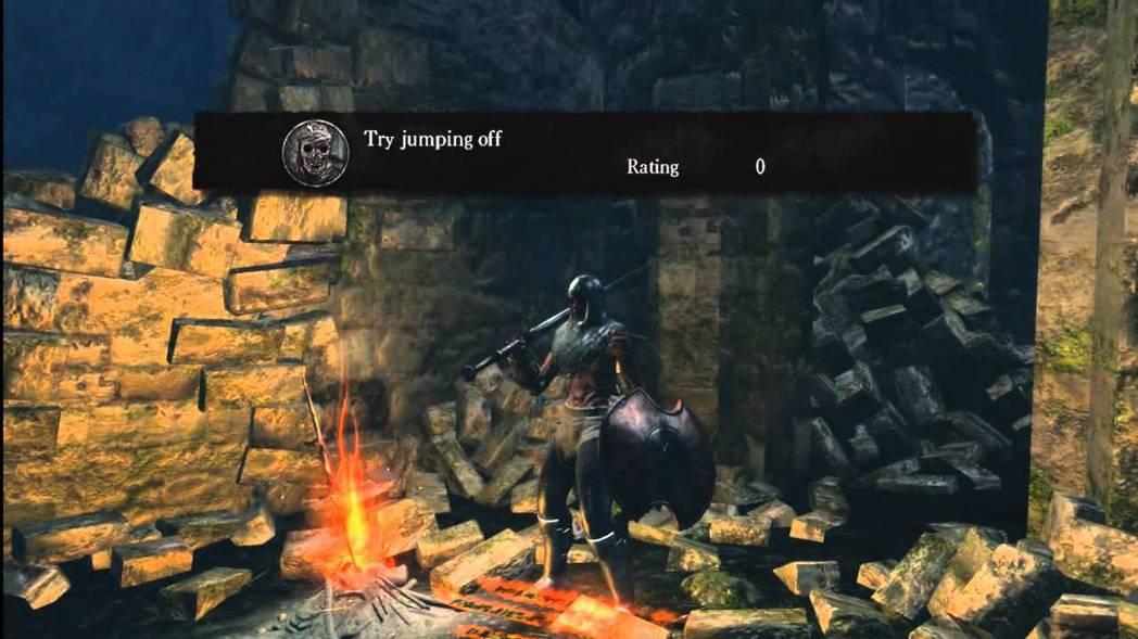 有些人就是靠著其他玩家的留言來通關《惡魔靈魂》的