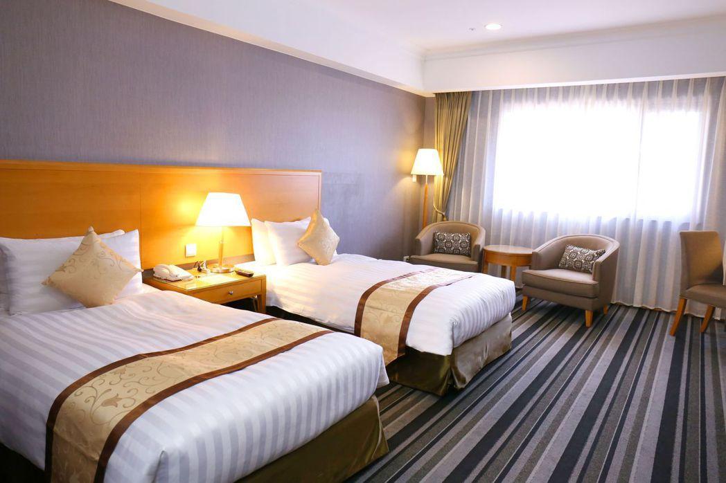 雅緻雙人房。  台南富信大飯店/提供