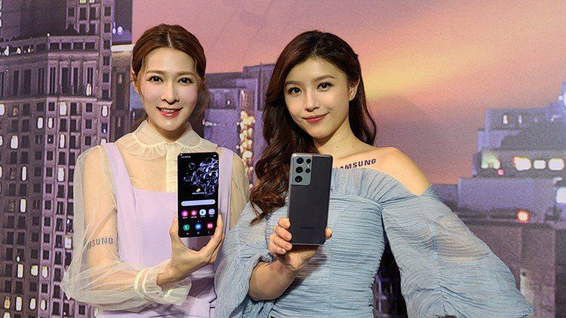 三星發表年度旗艦機種Galaxy S21 5G系列。記者何佩儒/攝影