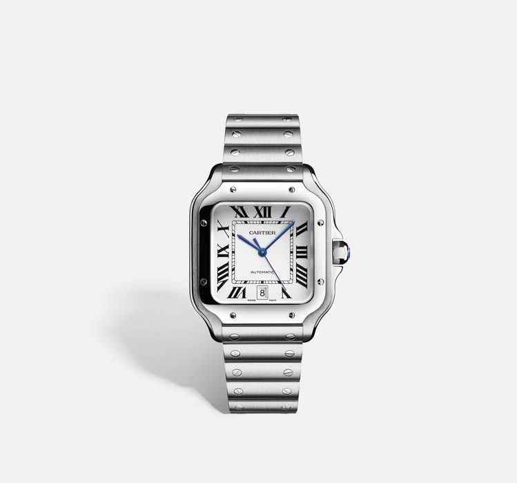 Santos de Cartier腕表精鋼大型款,21萬元。圖/卡地亞提供