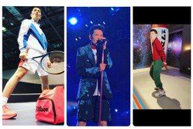 蕭敬騰舞台上西裝配短褲繁花盛開 私服也是大膽紅配綠