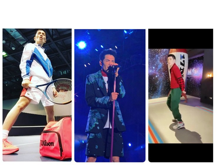 蕭敬騰的私服和舞台裝都同樣高調。圖/MCM提供、取自IG及抖音