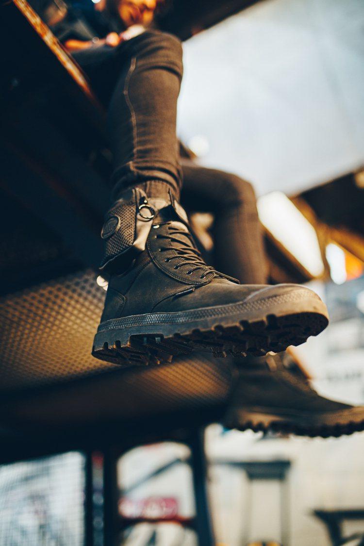 全新的THERMIC SPORTCUFF WP+熱能智慧調控防水軍靴,還能針對左...