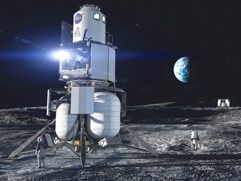 貝佐斯的太空公司Blue Origin提交給NASA的阿提米絲登月器模擬圖。路透/Cover Images
