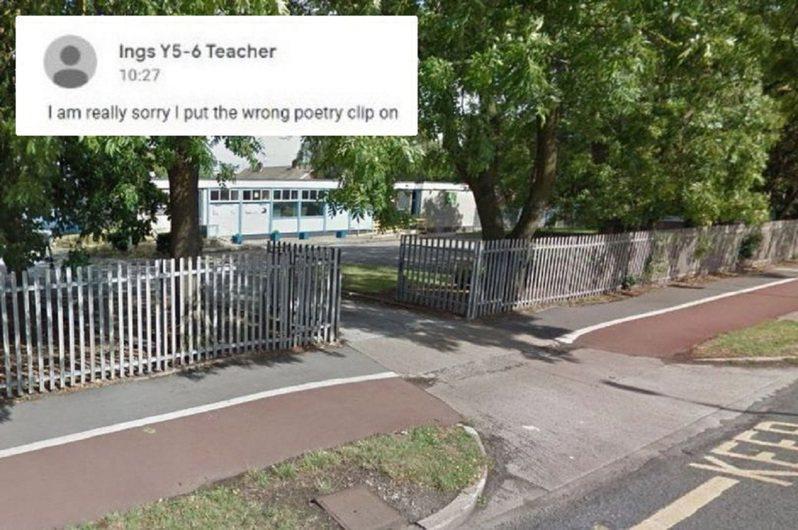 英格蘭赫爾英斯小學教師日前犯下大錯,將教學用的兒童作家說故事影片錯傳成內容被改編成亂倫和性行為的下流影像,家長們為此暴跳如雷,直指他不能懶到隨便貼一個沒親自點進去的網址。畫面翻攝:HULL LIVE