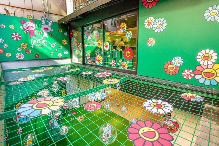 沛綠雅花花世界限定店,充滿濃厚普普藝術氣息。圖/沛綠雅提供