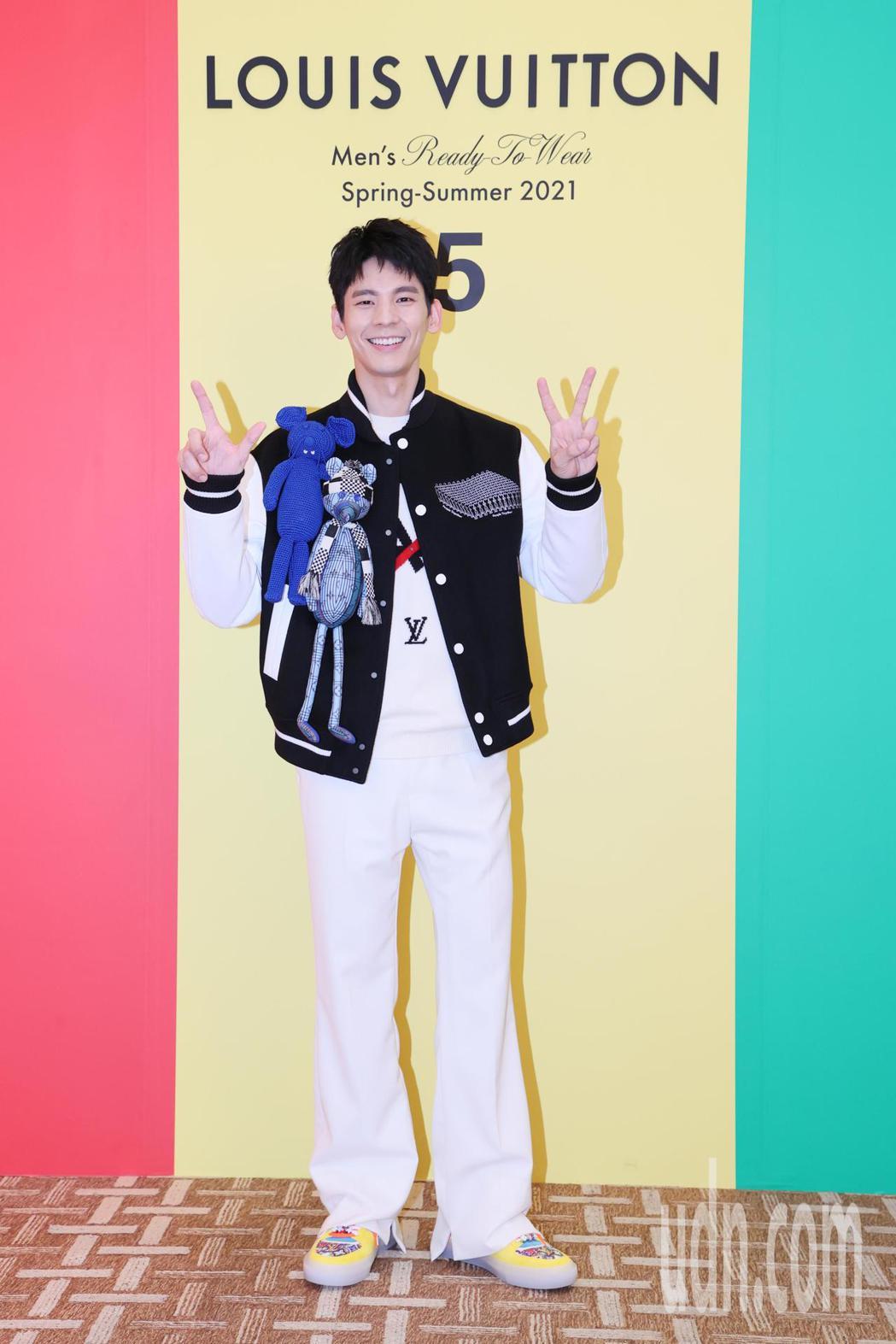 藝人林柏宏展示LV最新春夏男裝。記者許正宏/攝影