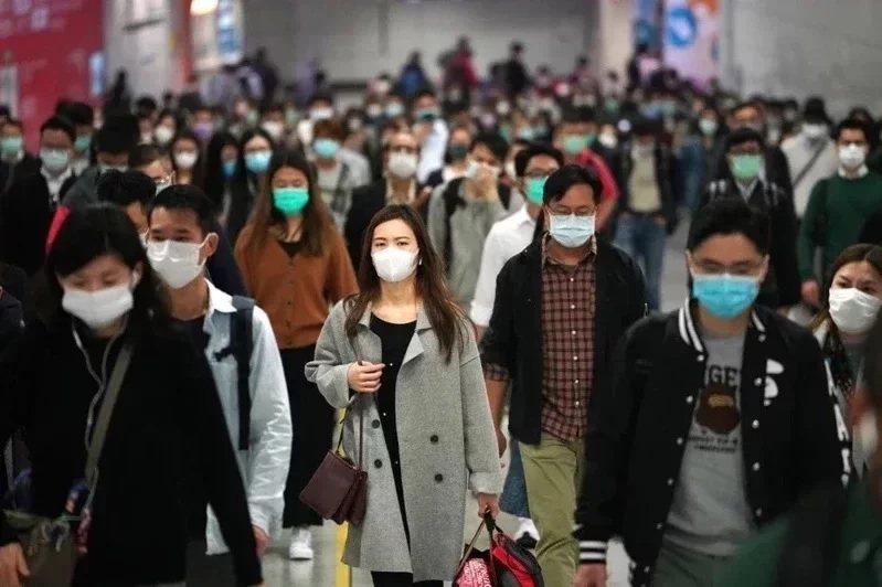 香港疫情持續。圖/取自中新社