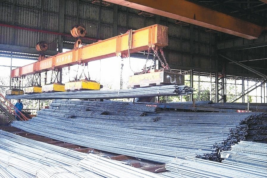 買氣鈍化、廢鋼報價大致持平下,下周鋼筋新盤可望以平盤定調。 (本報系資料庫)
