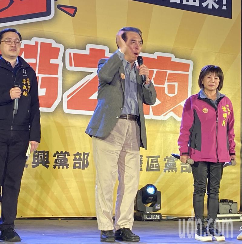 國民黨籍前立委陳學聖將王浩宇比喻為「蠍子」,天性就是「刺人」,呼籲民眾明天將他和萊豬一起下架。記者高宇震/攝影