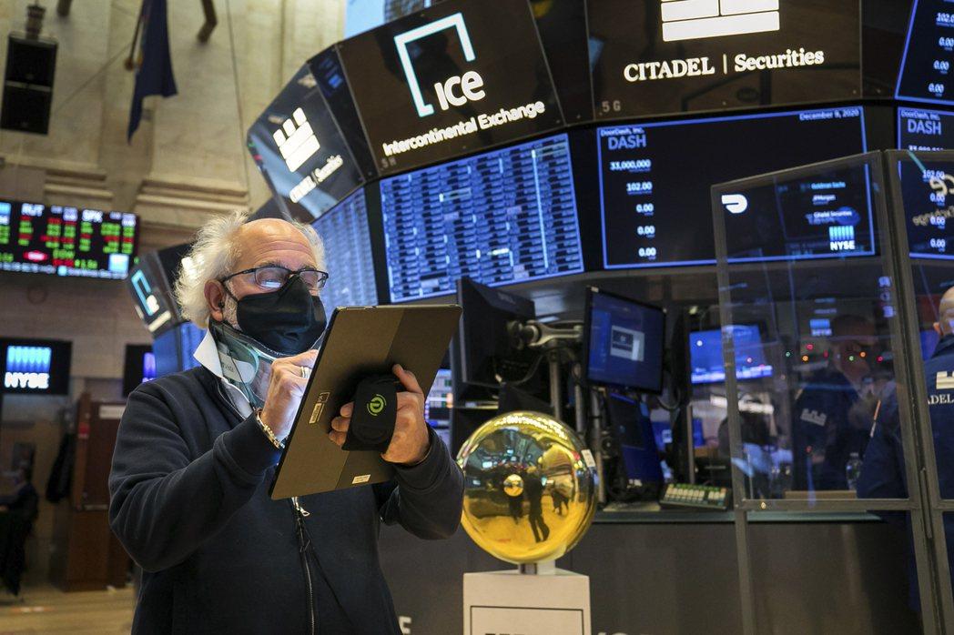 美股15日早盤跌逾百點。美聯社