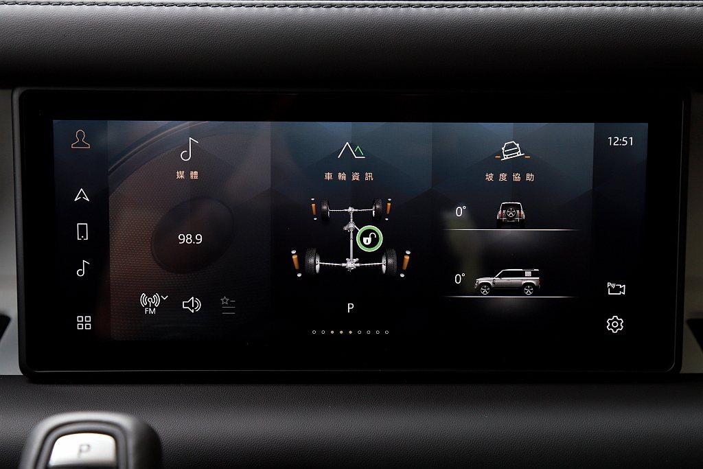 多數資訊如影音、車輛狀態、越野模式、空調、環景等都能在10.0吋Pivi Pro...