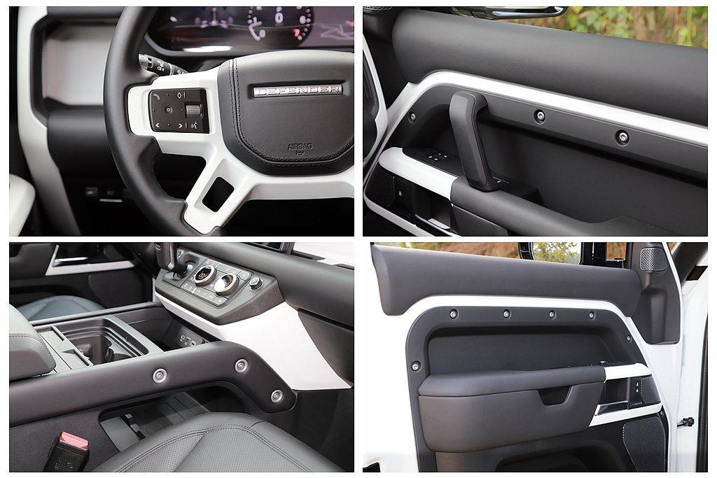 車艙大量把手,能在越野時提供車內乘客滿滿的安心感,加上鎂合金面板/多功能方向盤/...
