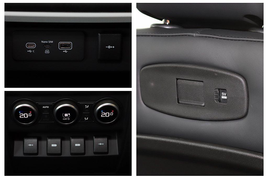 新世代Land Rover Defender車內多達10處的充電孔(包含USB、...