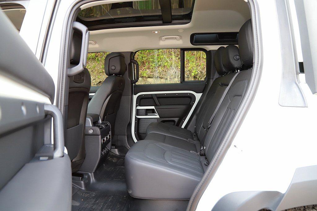 新世代Land Rover Defender具備充裕的3,022mm軸距設定,使...