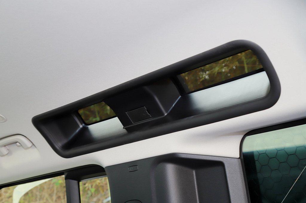 同時,舊款Defender的側天窗設計也完整保留下來。 記者張振群/攝影