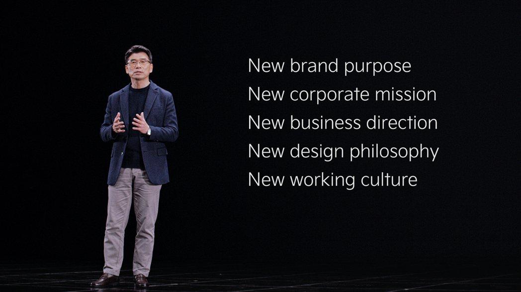KIA執行長宋浩成 (송호성) 宣示品牌新願景與理念。 摘自Kia