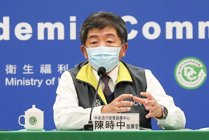 中央流行疫情指揮中心指揮官陳時中。記者余承翰/攝影