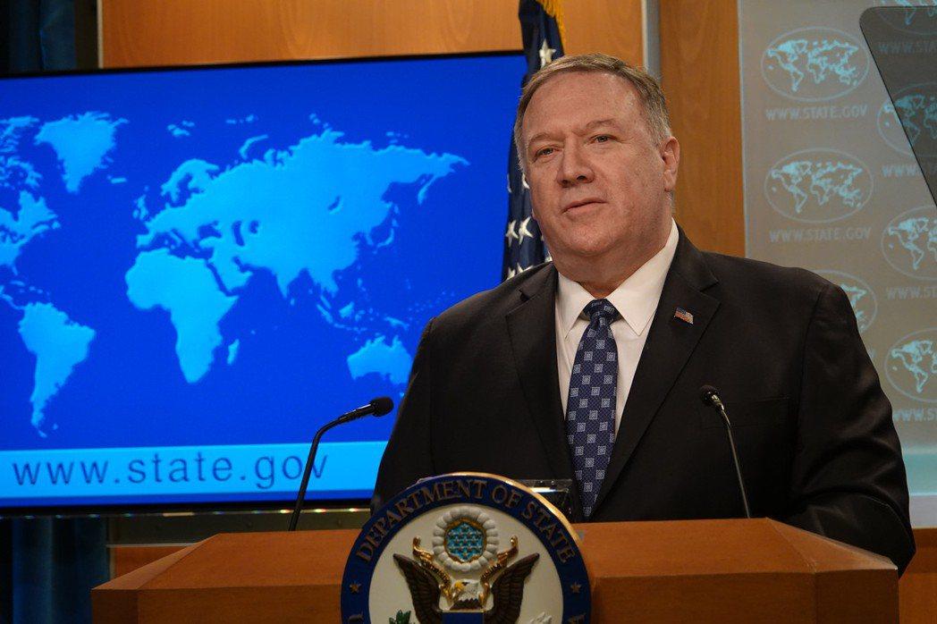 美國國務卿龐培歐。本報資料照片。華盛頓記者張文馨/攝影