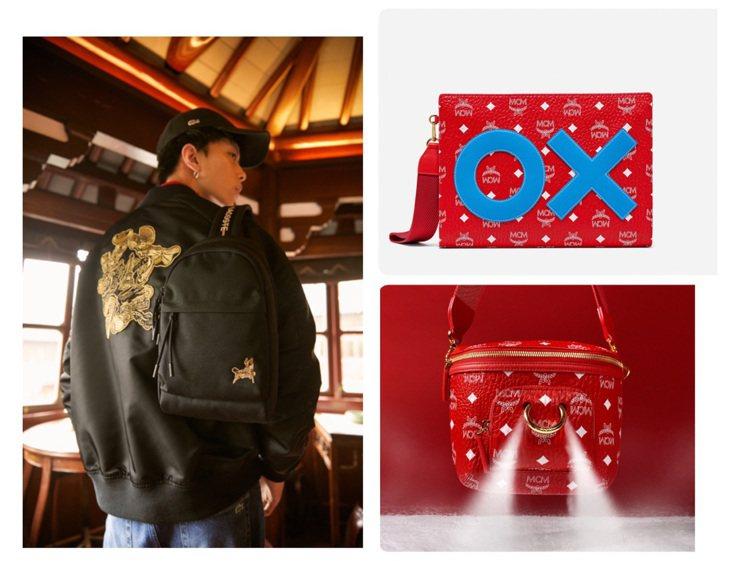 LACOSTE和MCM都推出紅、黑色系的牛年限錠系列商品。圖/LACOSTE、M...