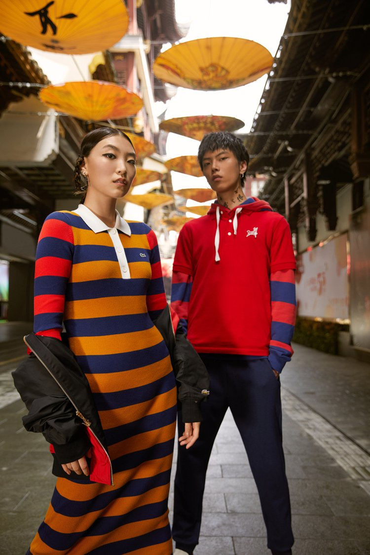 LACOSTE農曆新年膠囊系列男女裝仍具有日常的實穿性。圖/LACOSTE提供