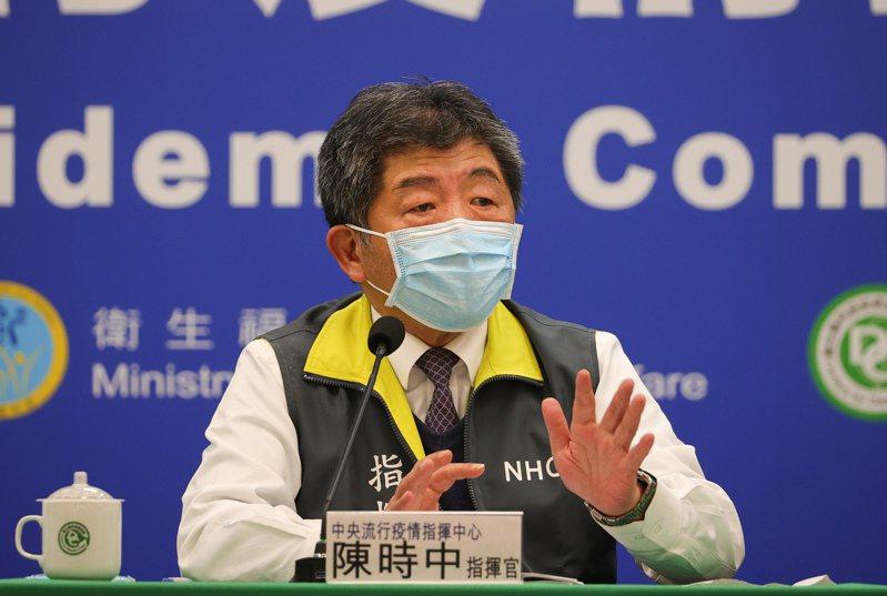 指揮中心指揮官陳時中表示,案856在1月10日有一個病人咽喉有卡到東西,而案838是值班住院醫師,兩人有短暫面對面討論病情。圖/中央社