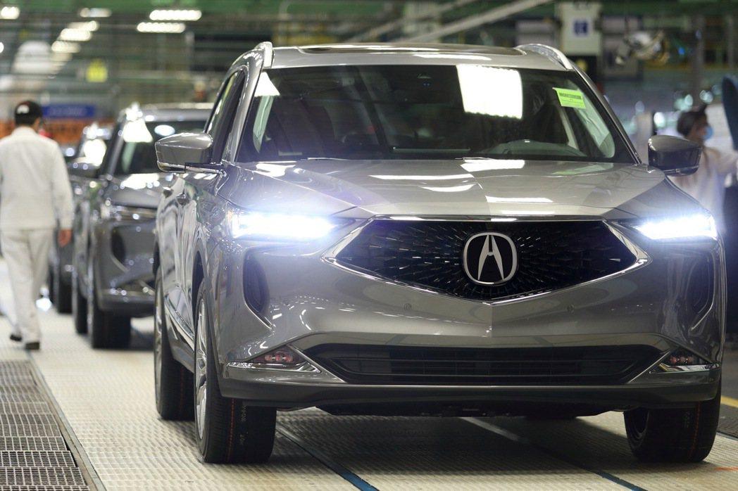 Acura MDX於俄亥俄州工廠開始生產。 圖/Acura提供
