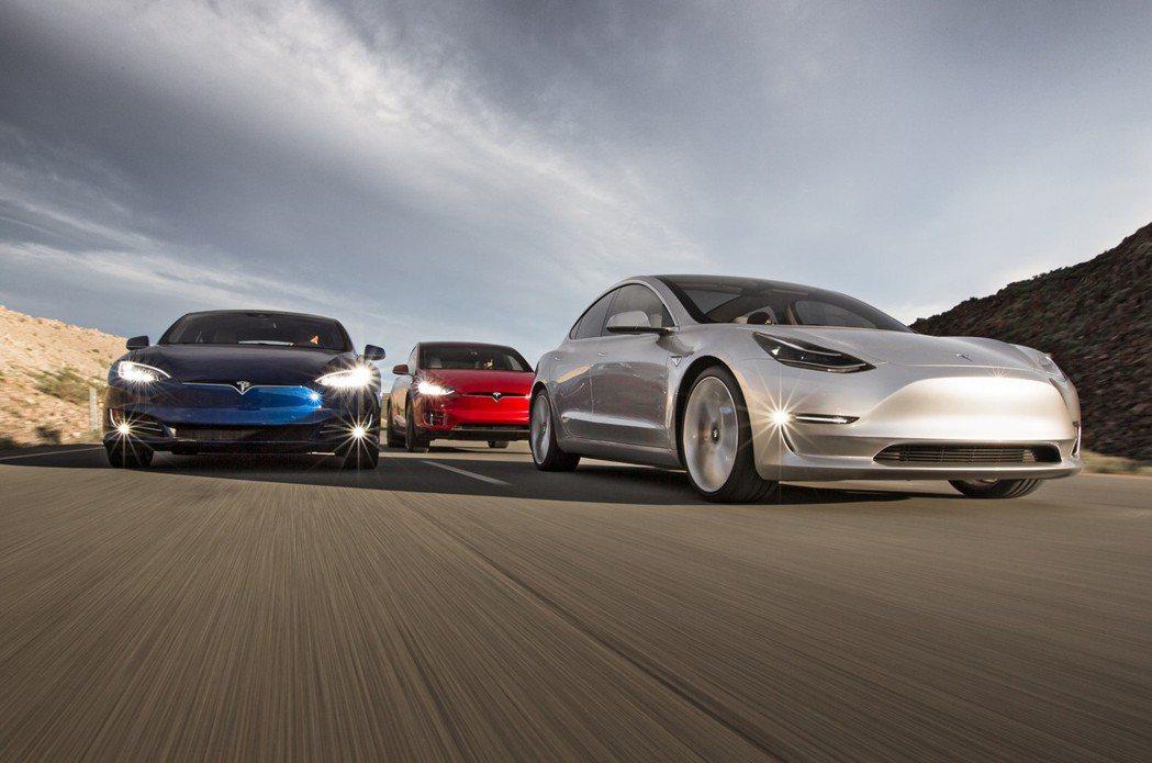 Tesla仍舊為電動車龍頭。 摘自Tesla