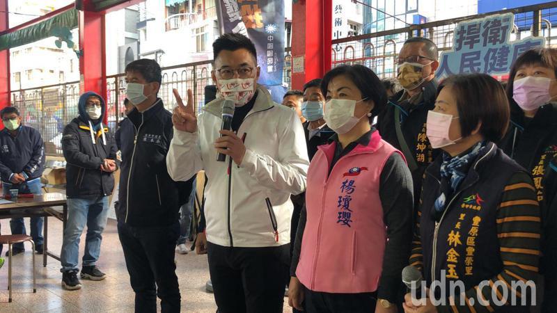 國民黨主席江啟臣說,王浩宇罷免案顯示人民對政府很多措施不滿,開出不信任投票的第一槍。記者陳秋雲/攝影