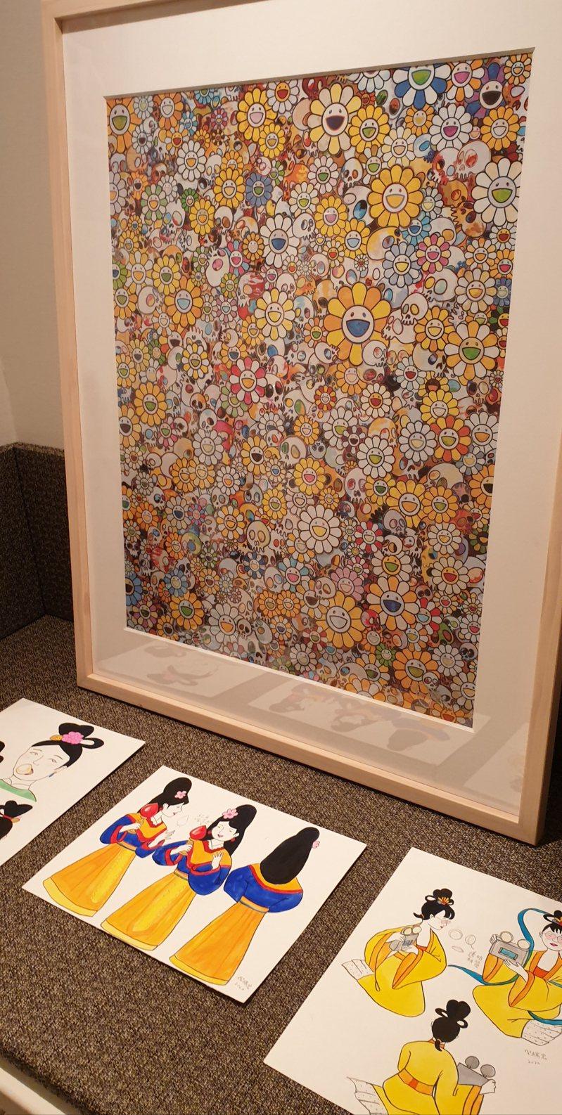 藝術家倪瑞宏透過對「仙女」形象的顛覆與現代化,表達與反諷現代女性的生活與處境。記者陳宛茜/攝影