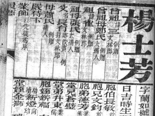 楊士芳的「齒錄」,清楚紀載身家與師承經過。圖/黃文瀚提供