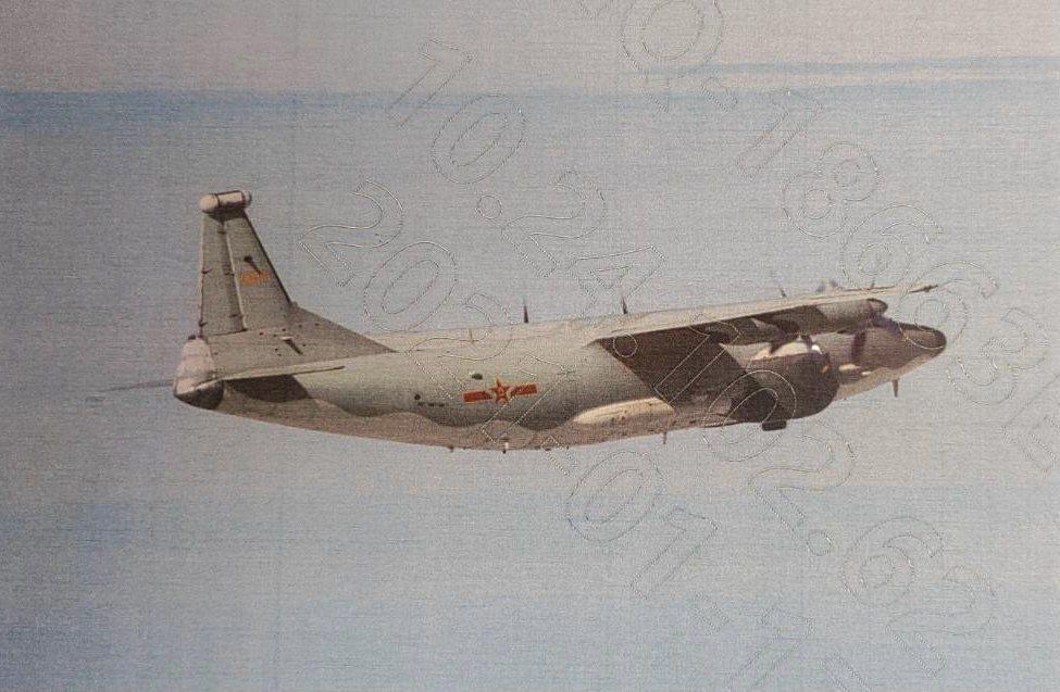 共軍一架運-8遠干機(如圖、同型機)侵入我西南防空識別區,空軍派遣空中兵力應對,...